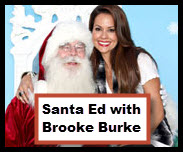Brooke Burke and Santa small