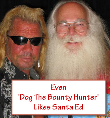 Even Dog Liks Santa 2