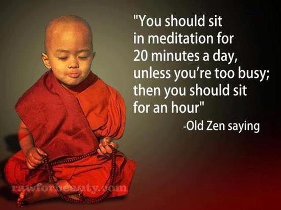 sit and meditate