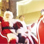 Santa & Mrs in Sleigh